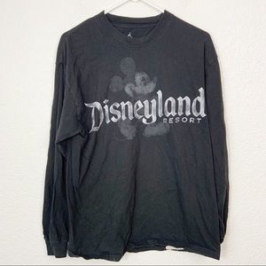 Disneyland Black Mickey Long Sleeve shirt Large